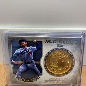 Fernando Valenzuela 2016 Topps MLB Debut Medallion Series One (Card# MDM-FV) Los Angeles Dodgers for Sale in Palm Harbor, FL