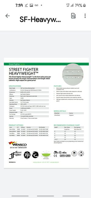 36 ct street fighter heavyweight led light strips with ballast for Sale in Milton, FL