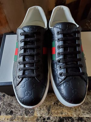 AUTHENTIC Gucci Ace Signature shoes Black for Sale in San Diego, CA