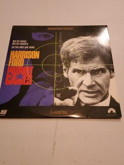 Patriot Games Harrison Ford Wide-Screen Edition Laser Disc Paramount 1992 for Sale in Fresno,  CA