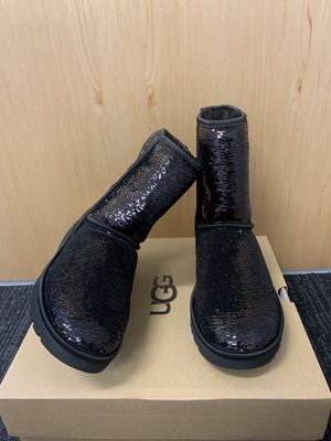 100% Authentic Brand New in Box UGG Classic Short Cosmos Sequin Boots / Color Black /women size 7 available for Sale in Pleasant Hill, CA