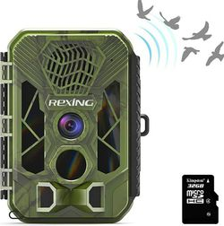 """$200+tax on Amazon, REXING H3 Electronic Animal Caller Trail CAM W/ 2.8"""" LCD,2.7K Video +20MP Photo,Night Vision,.2s Trigger,100FT Range,512GB,16 Mont for Sale in Poway,  CA"""