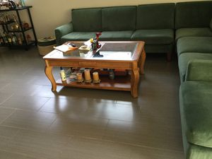Wood / glass coffee table for Sale in Dania Beach, FL