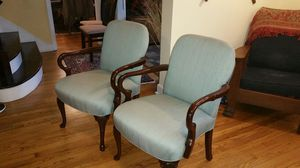 Nice pair of Queen Anne style armchairs, $70 for Sale in Winchester, CT