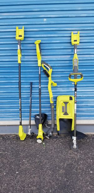 Ryobi Trimmers and Edges - Parts only - Not complete Selling everything shown in photos for $195 for Sale in Phoenix, AZ