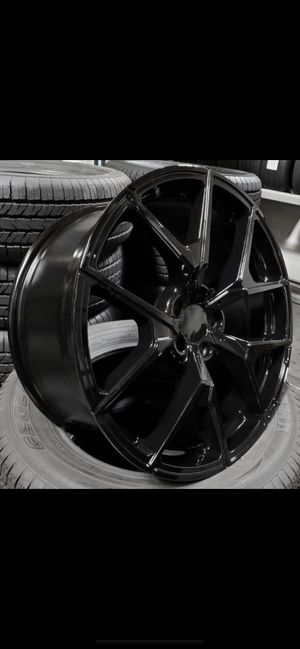 """Mercedes 20"""" new blk amg style rims tires set for Sale in Hayward, CA"""