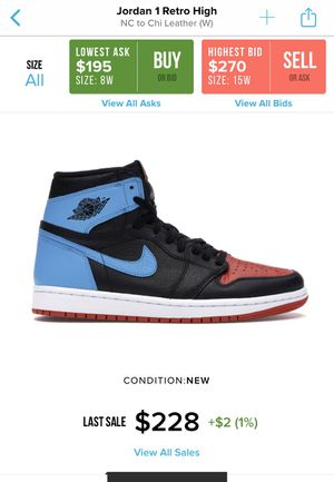 Jordan 1 Unc to Chicago 7w/5.5m for Sale in Los Angeles, CA