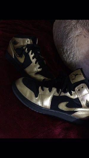 Black and gold air Jordan 1s for Sale in Long Beach, CA