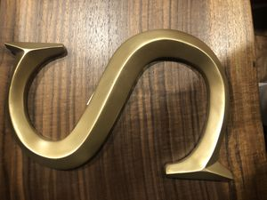 GIANT GOLD PAINTED CERAMIC/WOOD LETTERSb for Sale in Seattle, WA