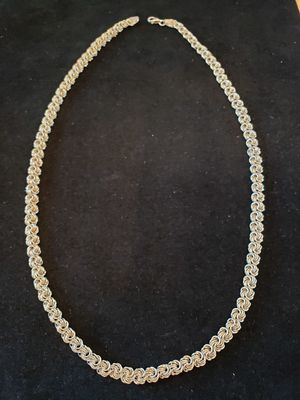 $45! STERLING heavy unique chain necklace. 22 inches. 1/4 inch wide. Marked 925. for Sale in Seminole, FL