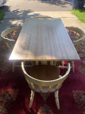 Farm house kitchen table with 4 chairs for Sale in St. Louis, MO