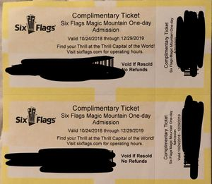 2 SixFlags Tickets for Sale in La Mesa, CA