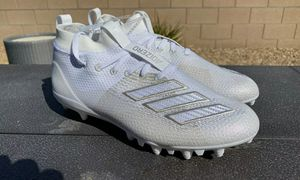 ADIDAS ADIZERO 8.0 J Youth Football Cleats Big Kids Boys GS White Size (4)(4.5)(5) NO BOX for Sale in Los Angeles, CA