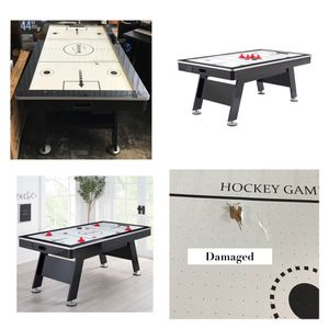 """Airzone Air Hockey Table with High End Blower, 80"""", Black and Chrome for Sale in Missouri City, TX"""