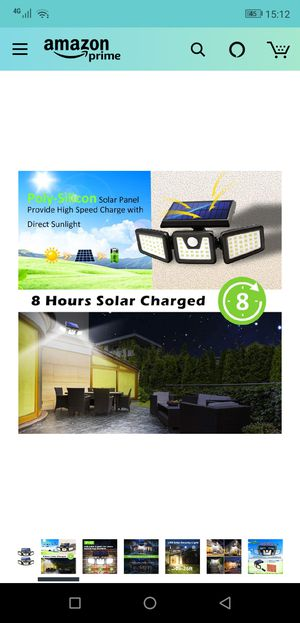 outdoor solar security lights for Sale in Staten Island, NY