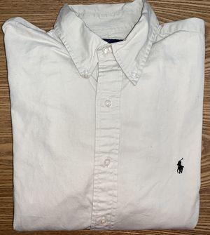 Ralph Lauren Men's Beige Button Down Dress Shirt Large for Sale in Grand Rapids, MI
