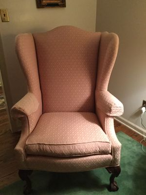 Ethan Allen high back pink chair for Sale in Philadelphia, PA