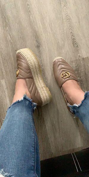 Gucci tan espadrilles sz 40 women shoes for Sale in Monaca, PA