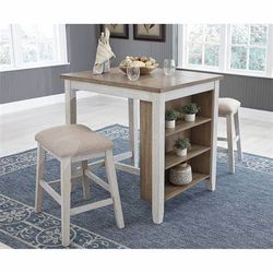 NEW IN THE BOX. SKEMPTON COUNTER HEIGHT DINING ROOM TABLE AND BAR STOOLS (SET OF 3), SKU# D394-113BS for Sale in Westminster,  CA