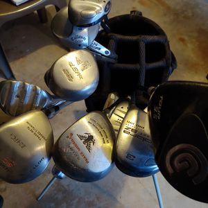 Assorted Golf Clubs Abd Case for Sale in Ridge, NY