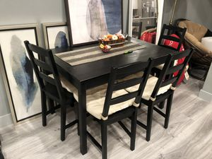 IKEA Jokkmokk Dining Table and 4 Chairs for Sale in Los Angeles, CA