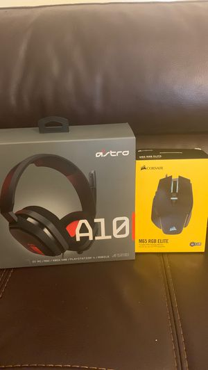 Astro A10 Headset+ Corsair M65 RBG Elite Tunable FPS Gaming mouse for Sale in Palm Springs, FL