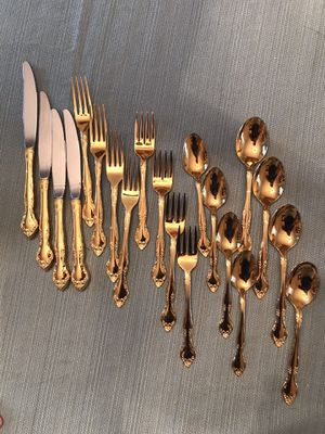 20 piece Gold Plated Flatware (Reduced) for Sale in Valencia, PA