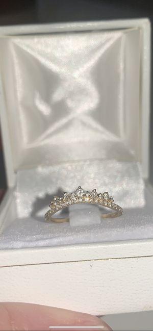 14k yellow gold diamond stacking ring wedding band for Sale in Cumming, GA