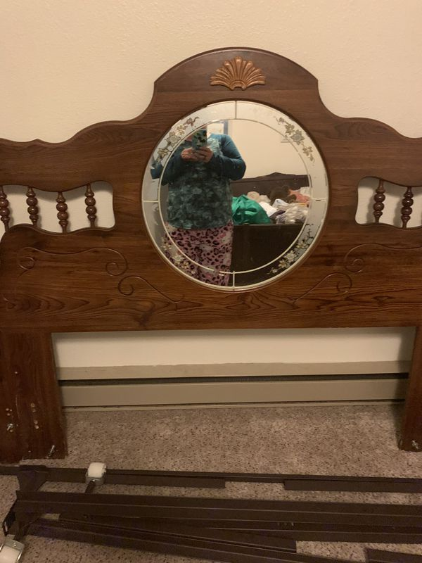 Queen head board and metal frame