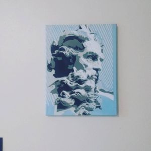 "Original ""Zeus"" Graffiti Portrait Painting on 11*14in Canvas for Sale in Portland, OR"