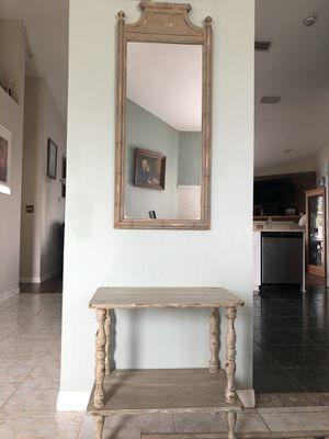 Antique Distressed Hardwood Mirror & Table Set 4 Sale! for Sale in Melbourne, FL