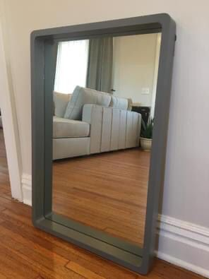 New Rounded Rectangle Framed Mirror, Matte Transitional Gray! for Sale in Greenville, SC