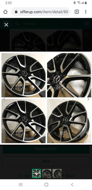 "20"" staggered mercedes wheels new in boxes for Sale in Pembroke Pines, FL"