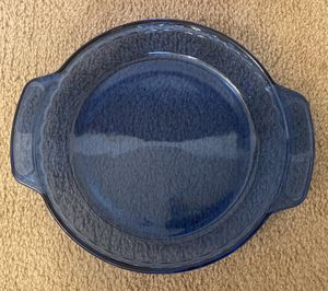 """ANCHOR BLUE GLASS OVENWARE DEEP PIE PLATE SERVER KITCHEN DISH 9"""" for Sale in Raleigh, NC"""