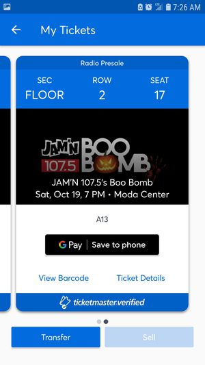 Boo bomb tickets for Sale in Portland, OR