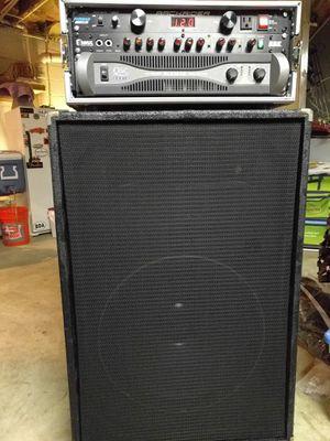 """Bass speaker cabinet 18"""" Black Widow w/horn for Sale in Myersville, MD"""