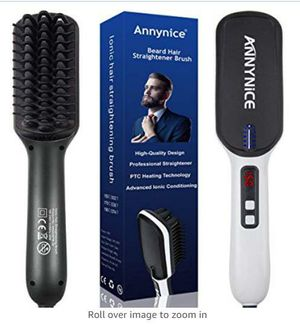 Beard Straightener - Professional Beard Hair Straightening Brush for Men- with Double Negative ions Anti-Scald Faster Heating Feature for Sale in Rancho Cucamonga, CA