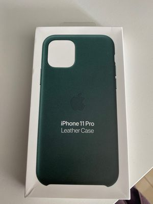 Apple iPhone 11 Pro leather case - green for Sale in Miami, FL