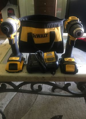 Dewalt 20v impact and driver drill with charger plus two batteries for Sale in Norfolk, VA