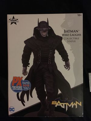 BATMAN WHO LAUGHS Collectible Statue Maquette SAN DIEGO COMIC CON 2018 Previews Exclusive icon heroes Limited to 2,000 DC Warner Brothers BRAND NEW N for Sale in Atlanta, GA