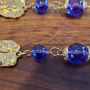 Purple & Gold Necklace for Sale in Bloomington, IL