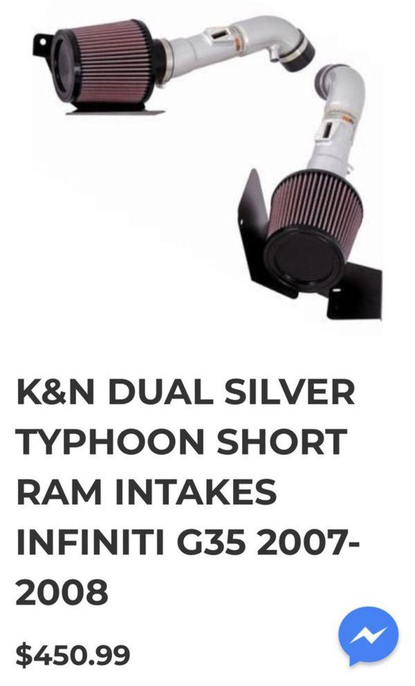 K&N Dual Intakes Infiniti G35