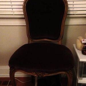 Antique Velvet Side Chair for Sale in Redding, CT