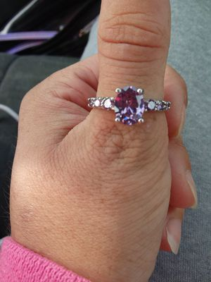 White gold purple diamond ring for Sale in Grove City, OH