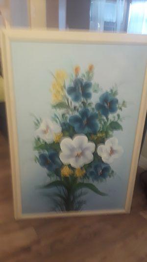 "K. Dossi framed painting. 38""x 27"". Gorgeous. Still life Flower. Part of Mom's estate sale. for Sale in St. Petersburg, FL"