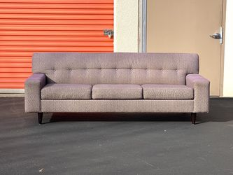 FREE DELIVERY - Mid-Century Contemporary Modern Retro Sofa Couch - Made by Max Home - Iridescent Purple Heather for Sale in Danville,  CA