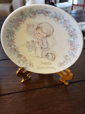 "Precious Moments 4"" Happy Anniversary plate for Sale in Sun City, AZ"