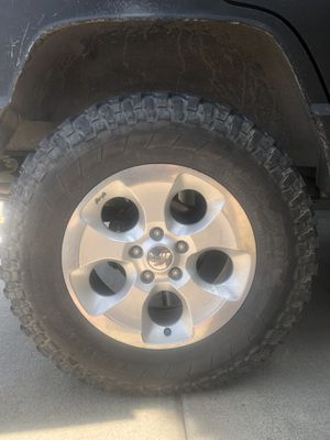Jeep Wrangler jk mag wheels and tires for Sale in Fontana, CA