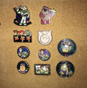 Disney pins toy story tangled walle for Sale in Pasadena, CA