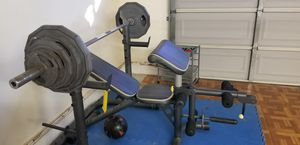 Golds gym bench and Marcy weights for Sale in Torrance, CA